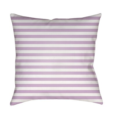 Arya Seersucker Indoor/Outdoor Throw Pillow Size: 20 H x 20 W x 3.5 D, Color: Purple