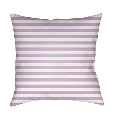 Arya Seersucker Indoor/Outdoor Throw Pillow Size: 18 H x 18 W x 3.5 D, Color: Purple