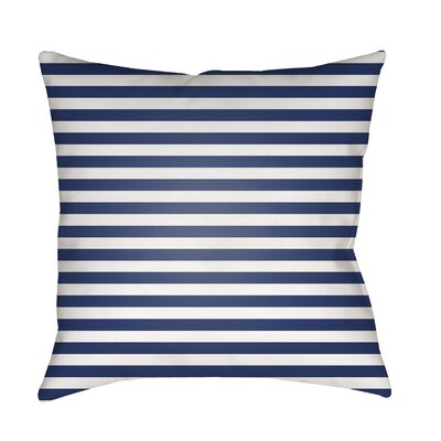 Arya Seersucker Indoor/Outdoor Throw Pillow Size: 18 H x 18 W x 3.5 D, Color: Purple