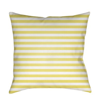 Arya Seersucker Indoor/Outdoor Throw Pillow Size: 18 H x 18 W x 3.5 D, Color: Yellow