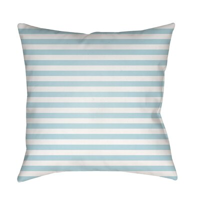 Arya Seersucker Indoor/Outdoor Throw Pillow Size: 18 H x 18 W x 3.5 D, Color: Light Blue