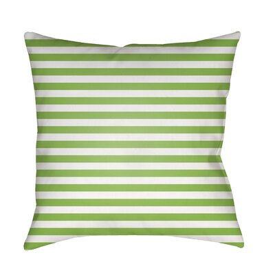 Arya Seersucker Indoor/Outdoor Throw Pillow Size: 18 H x 18 W x 3.5 D, Color: Green