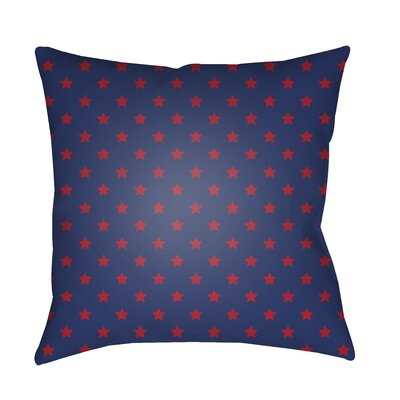 Monique Indoor/Outdoor Throw Pillow Size: 18 H x 18 W x 3.5 D, Color: Dark Blue