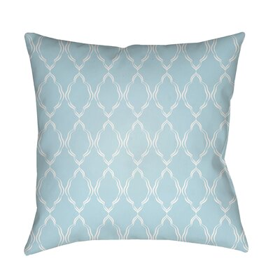 Bonaway Indoor/Outdoor Throw Pillow Size: 18 H x 18 W x 3.5 D, Color: Light Blue