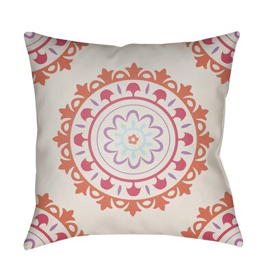 Alperin Indoor/Outdoor Throw Pillow Size: 18 H x 18 W x 3.5 D, Color: Orange