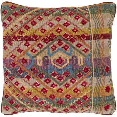 Samson 100% Cotton Throw Pillow Size: 20 H x 20 W x 3.5 D, Fill Material: Down Fill