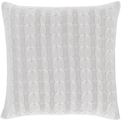 Gardiner 100% Cotton Throw Pillow Color: Light Gray, Fill Material: Down Fill