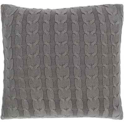 Gardiner 100% Cotton Throw Pillow Fill Material: Down Fill, Color: Medium Gray