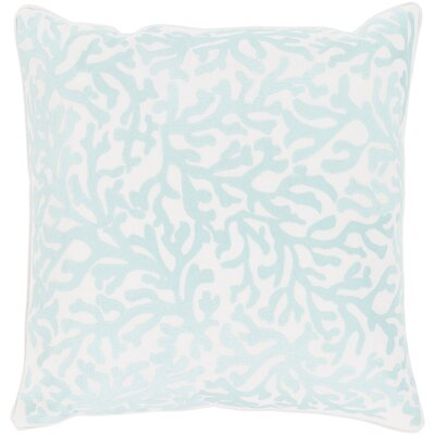 Chantel 100% Cotton Throw Pillow Size: 18 H x 18 W x 3.5 D, Color: White, Fill Material: Polyfill
