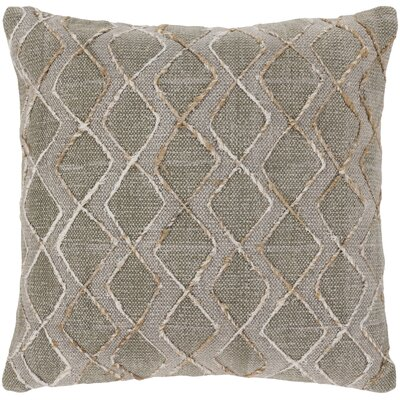 Cooke 100% Cotton Throw Pillow Color: Light Gray, Fill Material: Down Fill