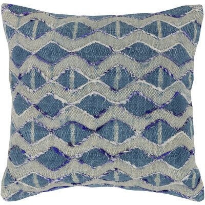 Cooke 100% Cotton Throw Pillow Color: Dark Blue, Fill Material: Down Fill