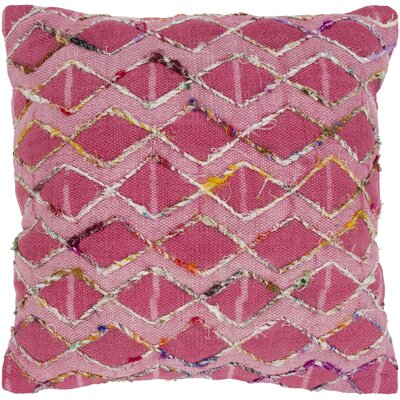 Cooke 100% Cotton Throw Pillow Color: Fuschia, Fill Material: Poly Fill