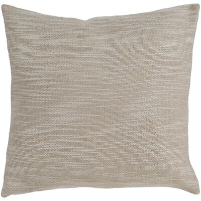 Hillsborough 100% Cotton Throw Pillow Color: Cream, Fill Material: Down Fill