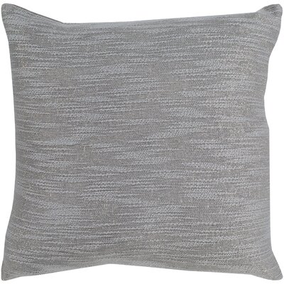Hillsborough 100% Cotton Throw Pillow Fill Material: Down Fill, Color: Silver Gray