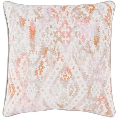 Noelle 100% Cotton Throw Pillow Size: 22 H x 22 W, Color: Bright Pink, Fill Material: Down Fill
