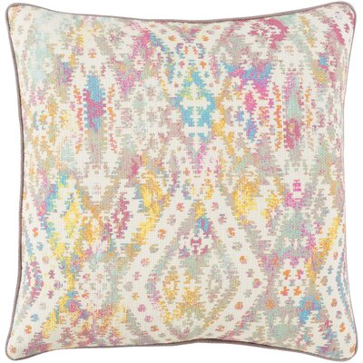 Noelle 100% Cotton Throw Pillow Size: 22 H x 22 W, Color: Ivory, Fill Material: Poly Fill