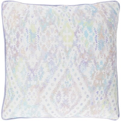 Noelle 100% Cotton Throw Pillow Size: 18 H x 18 W, Color: Cream, Fill Material: Down Fill
