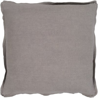 Caravel 100% Linen Throw Pillow Size: 18 H x 18 W x 3.5 D, Color: Taupe, Fill Material: Poly Fill