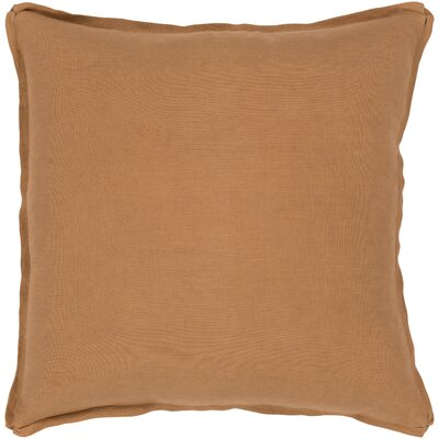 Caravel 100% Linen Throw Pillow Size: 18 H x 18 W x 3.5 D, Color: Burnt Orange, Fill Material: Down Fill