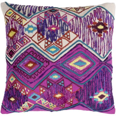 Gauge 100% Cotton Throw Pillow Size: 22 H x 22 W x 4.5 D, Color: Bright Purple