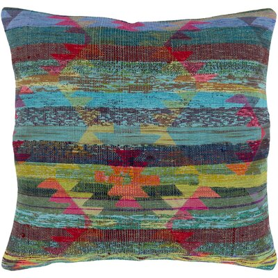 Stefan Pillow Cover Size: 30 H x 30 W x 4.5 D, Color: Aqua
