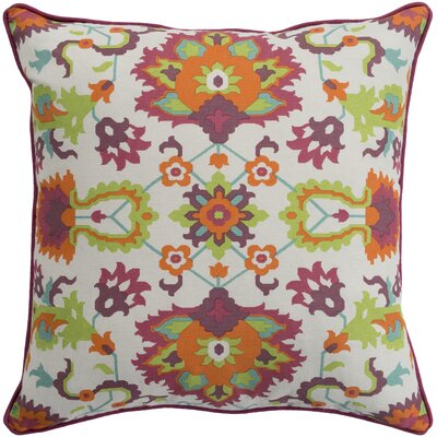 Naumann Square 100% Cotton Pillow Cover Size: 20 H x 20 W x 3.5 D, Color: Bright Orange