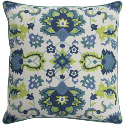 Naumann Square 100% Cotton Pillow Cover Size: 18 H x 18 W x 3.5 D, Color: Teal