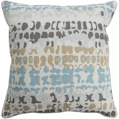 Villa Square 100% Cotton Throw Pillow Size: 20 H x 20 W, Color: Beige, Fill Material: Down Fill