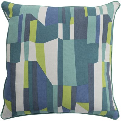 Angelena 100% Cotton Throw Pillow Size: 20 H x 20 W, Fill Material: Down Fill, Color: Teal
