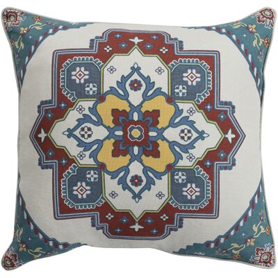 Brierwood 100% Cotton Throw Pillow Size: 18 H x 18 W, Color: Teal, Fill Material: Down Fill