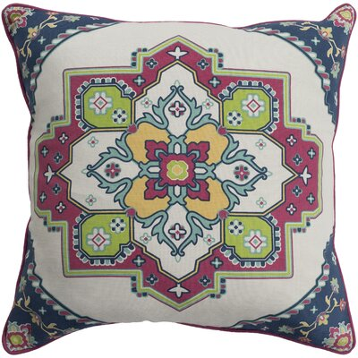Brierwood 100% Cotton Throw Pillow Size: 18 H x 18 W, Color: Bright Red, Fill Material: Polyfill
