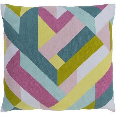 Sersic Square 100% Cotton Throw Pillow Size: 18 H x 18 W, Fill Material: Polyfill