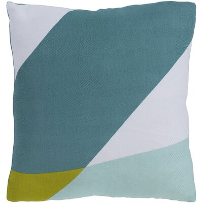 Sersic 100% Cotton Throw Pillow Size: 18 H x 18 W x 3.5 D, Fill Material: Down Fill