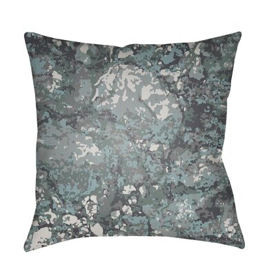 Konnor Indoor/Outdoor Square Throw Pillow Color: Aqua