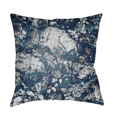 Konnor Indoor/Outdoor Square Throw Pillow Color: Navy