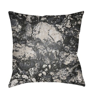 Konnor Indoor/Outdoor Square Throw Pillow Color: Black