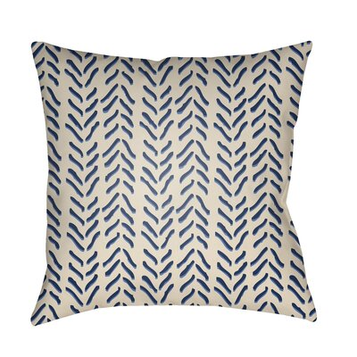 Broadbent Throw Pillow Size: 18 H x 18 W x 3.5 D, Color: Blue
