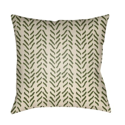 Broadbent Throw Pillow Size: 18 H x 18 W x 3.5 D, Color: Green