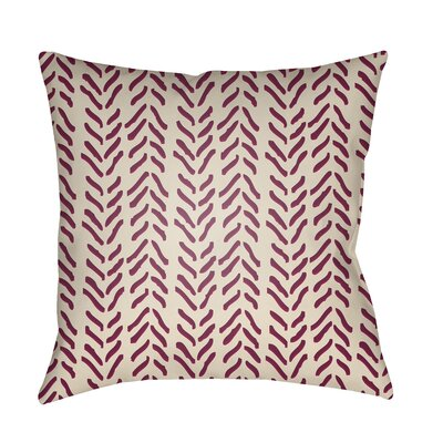 Broadbent Throw Pillow Size: 18 H x 18 W x 3.5 D, Color: Bright Red