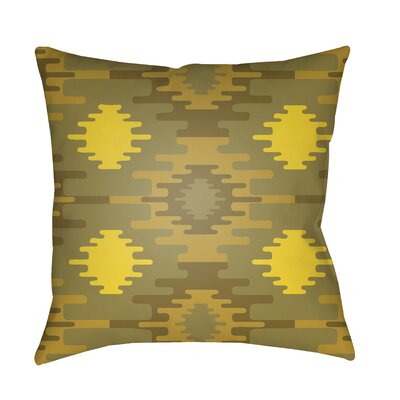 Adamson Square Throw Pillow Size: 20 H x 20 W x 3.5 D, Color: Bright Yellow