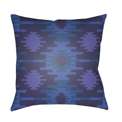 Adamson Square Throw Pillow Size: 18 H x 18 W x 3.5 D, Color: Bright Blue