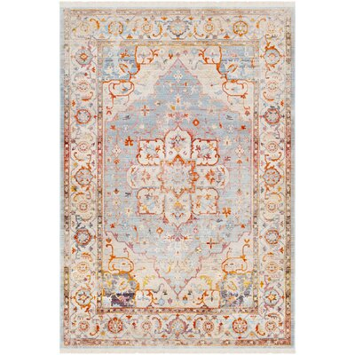 Mendelsohn Vintage Persian Traditional Blue/Beige Area Rug Rug Size: Rectangle 311 x 57