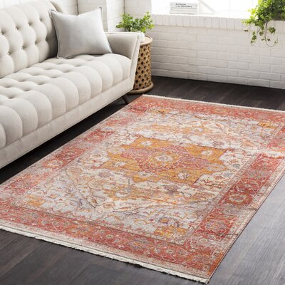 Mendelsohn Vintage Persian Traditional Red/Orange Area Rug Rug Size: Rectangle 710 x 103