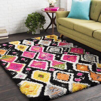 Elissa Boho Pink/Yellow Area Rug Rug Size: Rectangle 67 x 96