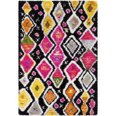 Elissa Boho Pink/Yellow Area Rug Rug Size: Rectangle 53 x 73