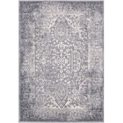 Thissell Vintage Persian Medallion Gray Area Rug Rug Size: Rectangle 710 x 103