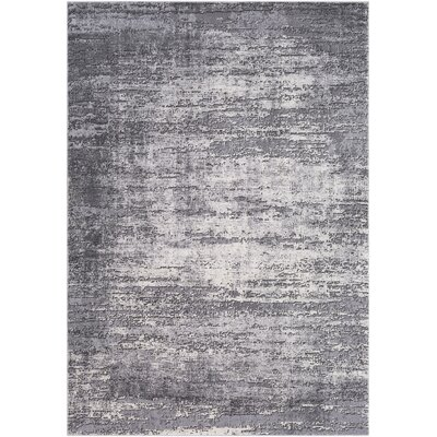 Brooks Distressed Modern Abstract Gray/Cream Area Rug Rug Size: Rectangle 710 x 103