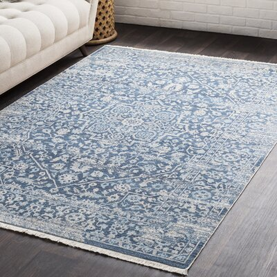 Springboro Vintage Persian Traditional Blue Area Rug Rug Size: 710 x 103