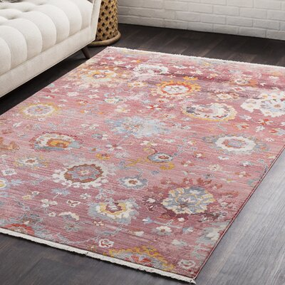 Drumnasmear Vintage Persian Traditional Red Area Rug Rug Size: 2 x 3