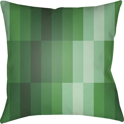 Wakefield Geometric Square Throw Pillow Size: 18 H x 18 W x 4 D, Color: Green